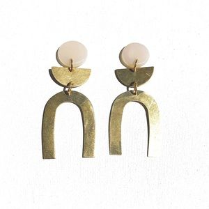 Sigfus Gold Earrings: Pneuma Collection - Arches